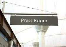 Salle de presse Photographie stock libre de droits