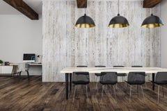 Salle de réunion en bois moderne Image libre de droits