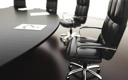 Salle de réunion, lieu de réunion et table et chaises de conférence Concept d'affaires rendu de l'isolat 3d Image libre de droits