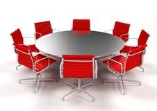 Salle de réunion - présidences rouges Image stock