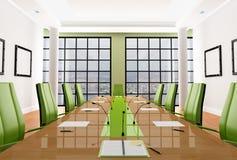 Salle de réunion verte Photographie stock