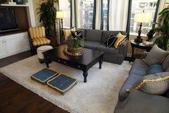 Salle de séjour à la maison de luxe Photos stock
