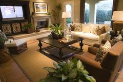 Salle de séjour à la maison de luxe Images stock