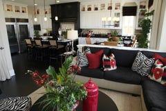 Salle de séjour à la maison de luxe Image stock