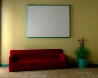 Salle de séjour - 3D Images stock