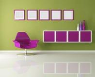 Salle de séjour colorée illustration stock