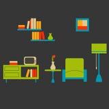 Salle de séjour confortable illustration libre de droits