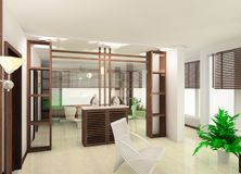 salle de séjour de conception illustration de vecteur