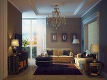 Salle de séjour de luxe illustration stock