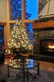 Salle de séjour de Noël Photographie stock libre de droits
