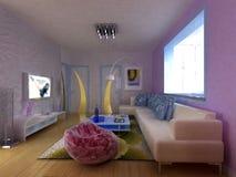 Salle de séjour intérieure Image stock
