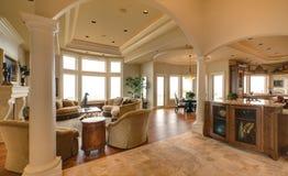 Salle de séjour luxueuse image stock