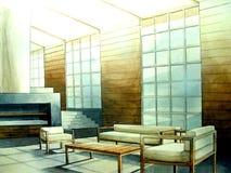 salle de séjour minimale moderne Image libre de droits