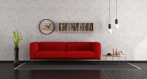 Salle de séjour minimaliste Photo stock