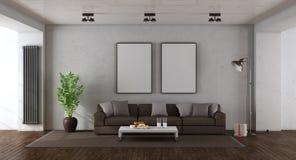 Salle de séjour minimaliste image stock