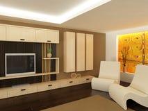 Salle de séjour moderne Image libre de droits
