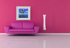 Salle de séjour rose Image libre de droits