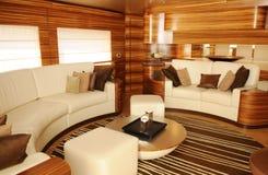 Salle de séjour de yacht Photographie stock libre de droits