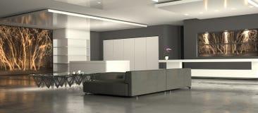 Salle de séjour minimaliste blanche Image stock