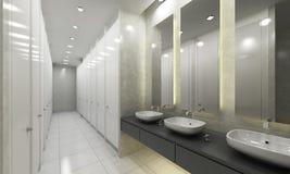 Salle de toilette et toilettes modernes Photographie stock libre de droits