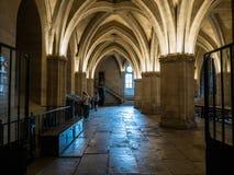 Salle des氏族d'Armes, Conciergerie,巴黎,法国 免版税库存照片