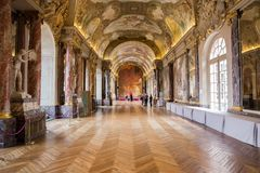 Salle des Illustres in the Capitole the Toulouse Stock Images