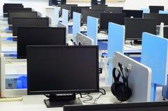 Salle des ordinateurs Image libre de droits