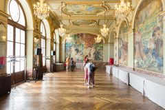Salle Gervais dans Capitole de Toulouse Photo stock