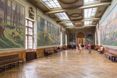 Salle Henri Martin in the Capitole de Toulose Royalty Free Stock Photography