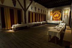 Salle à manger de rois de château de Douvres Photos stock