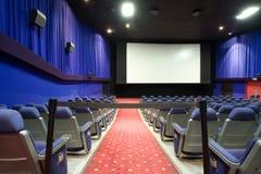 Salle vide de cinéma Photographie stock