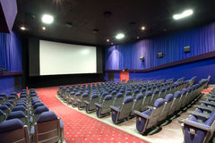 Salle vide de cinéma Photo stock