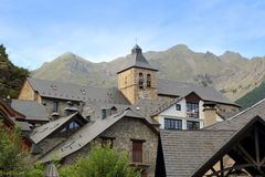 Sallent de Gallego Pyrenees stone village Huesca Royalty Free Stock Image