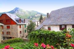 Sallent de Gallego Pyrenees stone village Huesca Stock Images