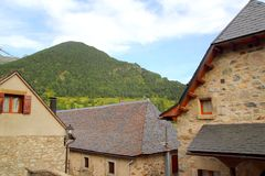 Sallent de Gallego Pyrenees stone village Huesca Stock Photos