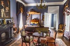 Salles à l'intérieur de plantation célèbre de Nottoway Images libres de droits