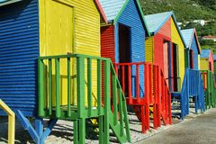 Salles de bains publiques de plage de St James en Muizenberg Photographie stock