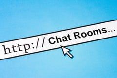 Salles de messagerie instantanée d'Internet image libre de droits