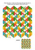 Salles et jeu de labyrinthe de portes illustration libre de droits
