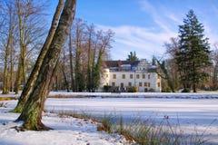 Sallgast pałac w zimie Zdjęcia Stock