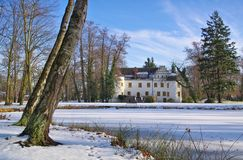 Sallgast palace in winter Royalty Free Stock Images