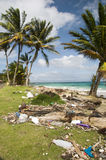 Sallie beach litter corn island nicara Stock Image