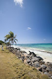 sallie peachie beach corn island nicaragua Royalty Free Stock Images