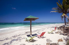 Sallie peachie beach corn island nicaragua Stock Photography