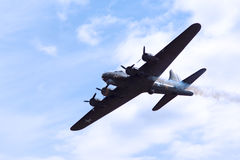 The Sally B WW2 bomber Stock Images