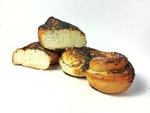 Sally Lunn. Bakery products with poppy seeds Stock Photography