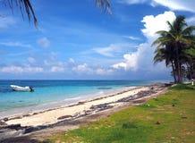 Sally Peachie Beach Big Corn ö Nicaragua Central America Arkivbilder