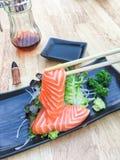 Salmões do Sashimi Imagem de Stock Royalty Free