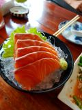 Salmões do Sashimi Foto de Stock Royalty Free