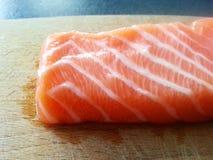 salmões frescos do sashimi, alimento japonês, japão Fotografia de Stock Royalty Free